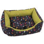 Sofa DOG FANTASY origami pes mix černo-zelené 93x80x22cm