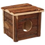 Domek SMALL ANIMAL dřevěný s kůrou 15,5x15,5x14cm