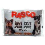 Kapsičky RASCO Dog s kuřecím a hovězím/s jehněčím a kuřecím 4x100g