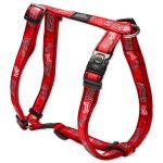 Postroj ROGZ H Fancy Dress Red Bone XL