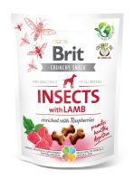 Brit Care Dog Crunchy Cracker Insects with Lamb enriched with Raspberries 200g