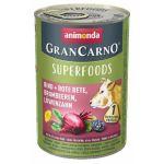 GRANCARNO Superfoods hovězí,čv.řepa,ostružiny,pampeliška 400 g pro psy