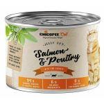 Chicopee Adult Jelly losos, drůbeží konzerva pro kočky 195g